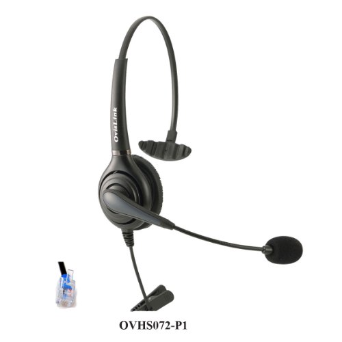Call Center Headset For Aastra, Allworx, Altigen, Avaya, Nec, Nortel Meridian, Norstar, Polycom, Shoretel, Samsung And Talkswitch Telephones With Rj9 Headset Jack