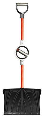 Professional-Grade-Ergonomic-Snow-Shovel-with-Wear-Strip-and-Adjustable-Center-Handle