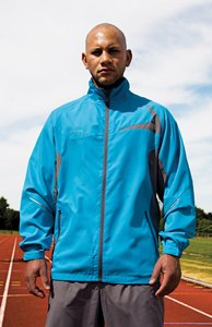 Spiro Mens Micro-Lite Team Jacket - X-Small, Aqua-Grey
