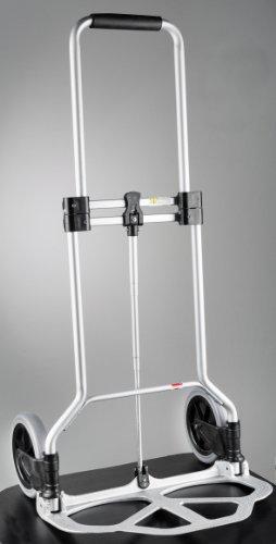 WENKO-8074500-Transportkarren-Slim-Alu-zusammenklappbar-Aluminium-50-x-102-x-47-cm-Silber