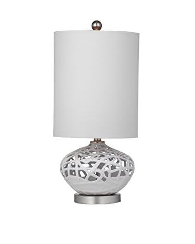 Bassett Mirror Co. Lennox 1-Light Table Lamp, White As You See