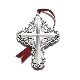 Wallace 2011 Sterling Silver Grande Baroque Cross 16th Edition Ornament