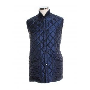 Beaver Quilted Gilet - Navy - L