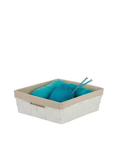 Honey-Can-Do Paper Rope Tray with Liner, White