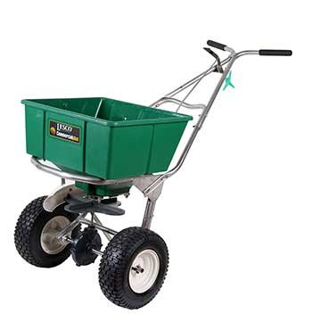 Lesco High Wheel Fertilizer Spreader with Manual Deflector - 101186