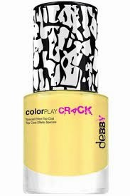 "Debby ColorPlay Crack Top Coat Decorativo Effetto ""Crack"" Tonalità 04 Giallo Tenue"