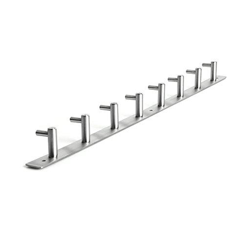 Amzdeal-Hakenleiste-8-Kleiderhaken-EDELSTAHL-Garderobenhaken-Wandhaken-8-Haken612438cm-545g