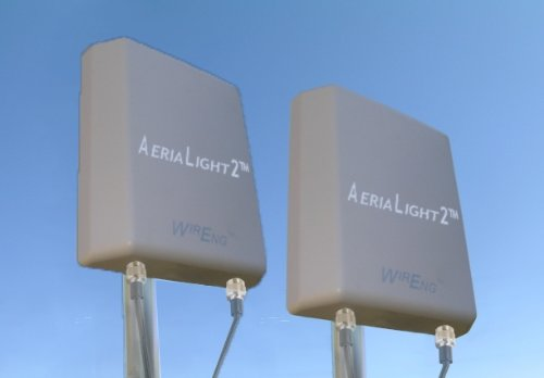 Dual AeriaLight2™ 12dBi 3G + 4G External Quad Antenna System for Virgin Mobile U600 3G/4G USB Stick