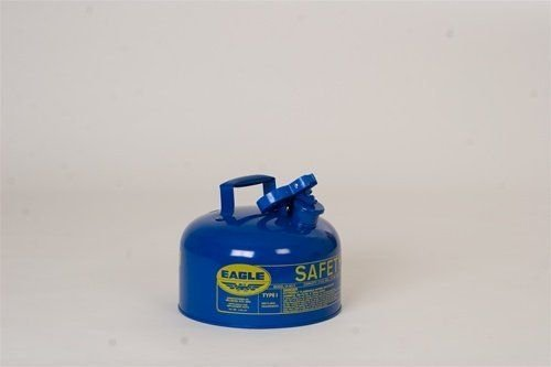 Eagle Blue Galvanized Steel Self-Closing 2 gal Safety Can - 9 1/2 in Height - 11 1/4 in Overall Diameter - UI-20-SB [PRICE is per EACH] (Eagle 2 Gallon Gas Can compare prices)