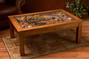 TROUT STREAM COFFEE TABLE - Trout stream coffee table