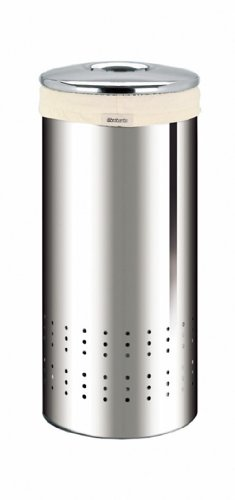 Brabantia Laundry Bin, 30 Litre, Brilliant Steel