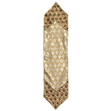 Gold Fleur De Lis Table Runner