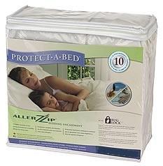 AllerZip Waterproof Bed Bug Proof Zippered Bedding Encasement, Queen 13