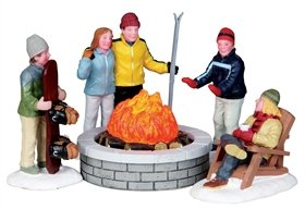 Lemax Christmas Village Fire Pit Bo by Lemax