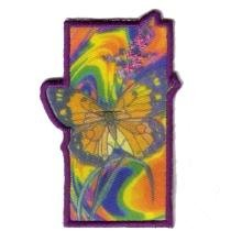 Embroidered Iron On Patch EP714 - Tie Dye Butterfly - Buy Embroidered Iron On Patch EP714 - Tie Dye Butterfly - Purchase Embroidered Iron On Patch EP714 - Tie Dye Butterfly (Embroidered Iron On Patches, Apparel, Departments, Accessories, Women's Accessories)