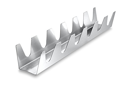 The Taco Rack Chef Series Six Shooter, 18/8 Stainless Steel, 13.5-Inches x 2-Inches x 2-Inches (Taco Oven Rack compare prices)