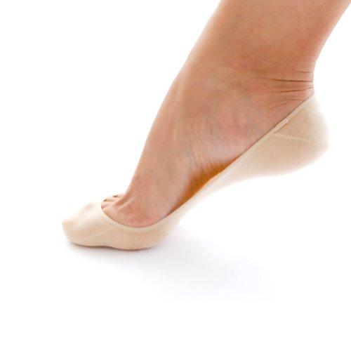 SHEEC - SoleHugger SECRET - Women's Cotton No-Show Socks (Cream/Small)