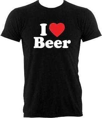 I Love Beer Tee-Shirt Homme coloris Noir