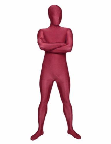 SecondSkin Full Body Spandex/Lycra Suit (M, Maroon)