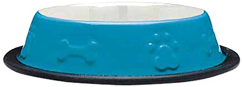 Proselect Stainless Steel Embossed Non Skid Bowl, 64-Ounce, Blue front-140086