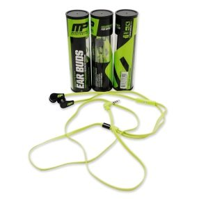 Musclepharm Musle pharm Sports Fit Ear Buds Black/Green 1 Pair.
