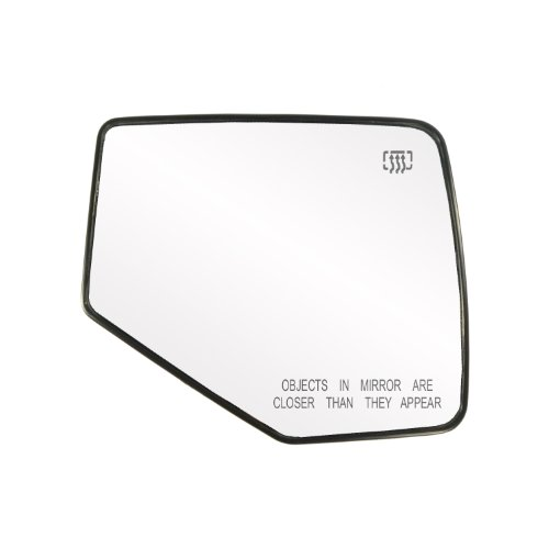 Fit System 30209 Ford/Mercury Right Side Heated Power Replacement Mirror Glass with Backing Plate (2009 Ford Explorer Side Mirror compare prices)