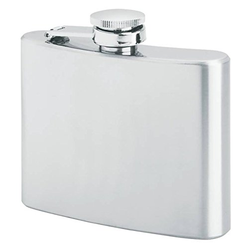 Primo 18/8 Stainless Steel Premium Hip Liquor Flasks, 4 oz.