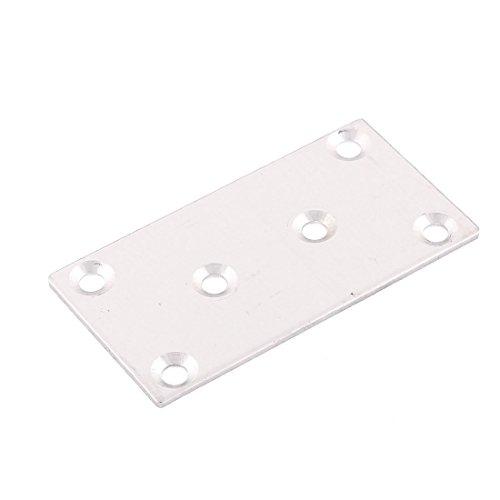 80mm x 42mm Mending droite Plaque Connecteur d'assemblage Support Fastener
