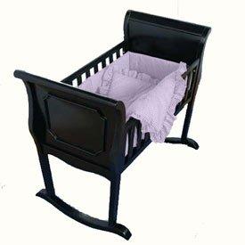BabyDoll Lavender Gingham Cradle Bedding, 15 x 33