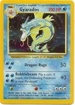 "Pokemon Card - English Holo ""Gyarados"" - Base Set 6/102 - 1"