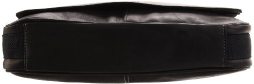 Kenneth Cole Risky Business Messenger Bag 真皮信使包/单肩通勤包,黑色款图片