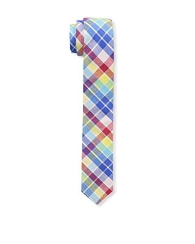 SKINNY TIE MADNESS Men's Stranger Danger 2-Inch Skinny Woven Tie, Red