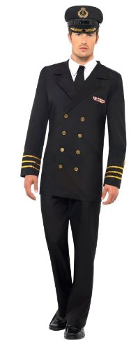 Smiffy'S Navy Officer Male, Black, Large