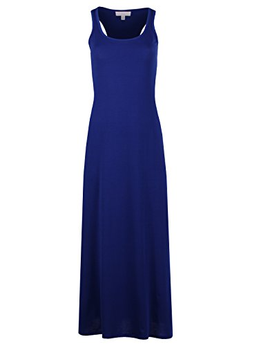 Taylor Perform Women's Sleeveless Tank T Racerback Casual Long Maxi Dress (XX-Large, CWACTD9607_Royal) (Tank Maxi Dresses For Women compare prices)