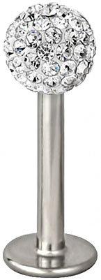 "*Black Friday Sale* 16G 5/16"" 316L Surgical Steel 4 Mm Diamond White Cz Ferido Crystal Top Labret Stud Lip Ring"