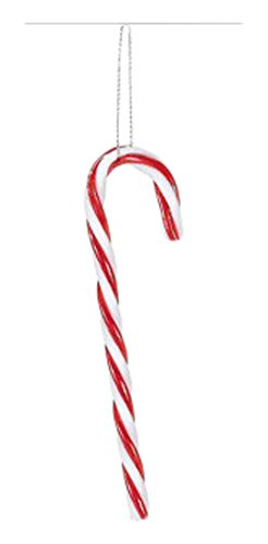 Amscan Very Merry Christmas Candy Cane Hanging Party Decorations, Red/White, 6 1/2