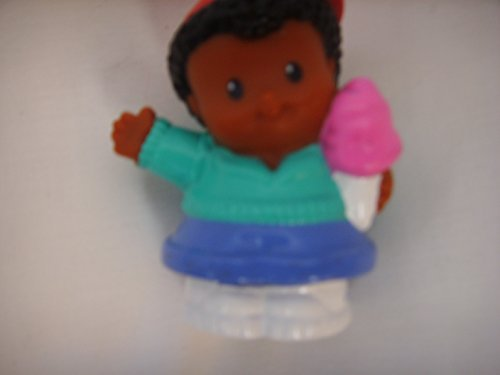 Fisher Price Little People Michael Black African American Ice Cream or Cotton Candy & Backpack Toy - 1