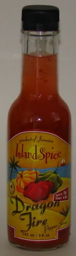 Island Spice - Dragon Fire Pepper Sauce 5 fl oz - Jamaican Hot Sauce