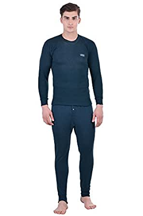Lux Cottswool Men's Full Sleeves Round Neck Thermal Top & Trouser Set (Small)