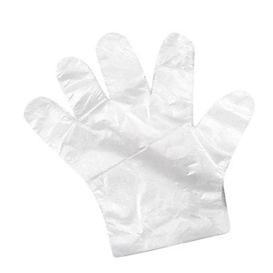 LWW Disposable Transparent Plastic Gloves for Travel(45-Pack)