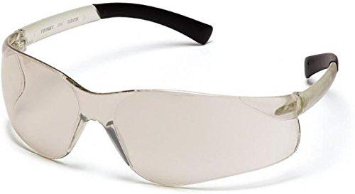Pyramex Ztek Safety Eyewear – Indoor/Outdoor Mirror Lens, I/O Mirror Frame S2580S, 12