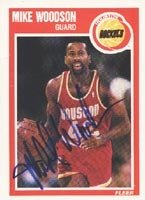 Mike Woodson Houston Rockets 1989 Fleer Autographed Hand Signed Trading Card. by Hall of Fame Memorabilia