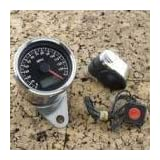 BKRider Programmable Mini Electronic 1.87 Black Face Speedometer With Odometer/Tripmeter For Harley-Davidson
