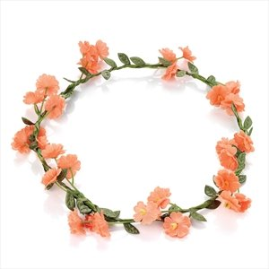 Delicate and feminine Peach Flower crown ,perfect Bridesmaid , Festival , Party Or any other special occasion .