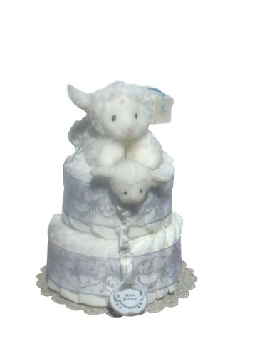 Baptism Centerpieces with Diaper Cakes