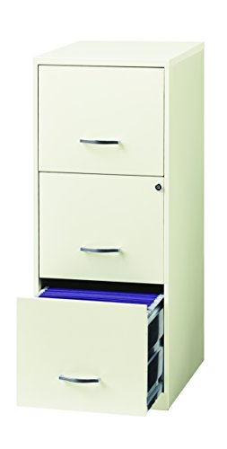Space solutions 3 drawer file cabinet 18 inch deep white - Filing solutions for small spaces photos ...