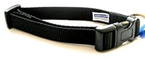 Large Black Nylon Adjustable Ancol Dog Collar 313210