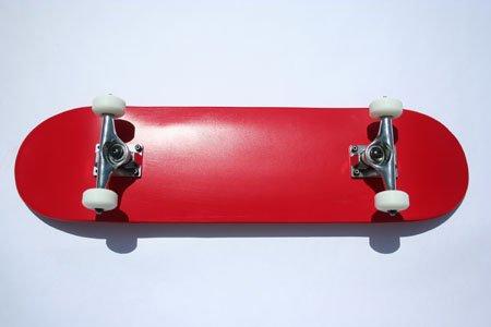 Blank Skateboard Complete Red Blank Dipped Skateboard