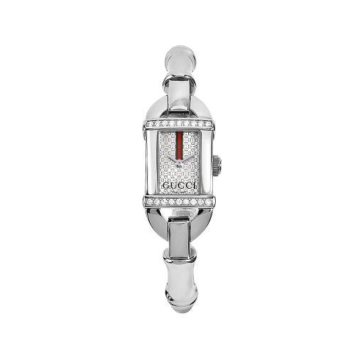 7d34dc68c45 GUCCI Women s YA068556 6800 Series Stainless Steel Bangle Diamond-Accent  Watch