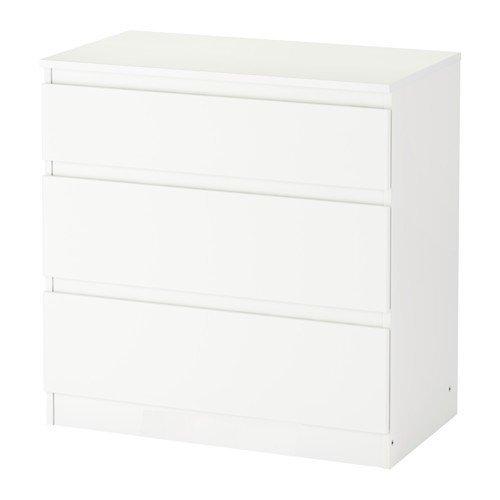 IKEA-KULLEN-Kommode-mit-3-Schubladen-in-wei-70x72cm